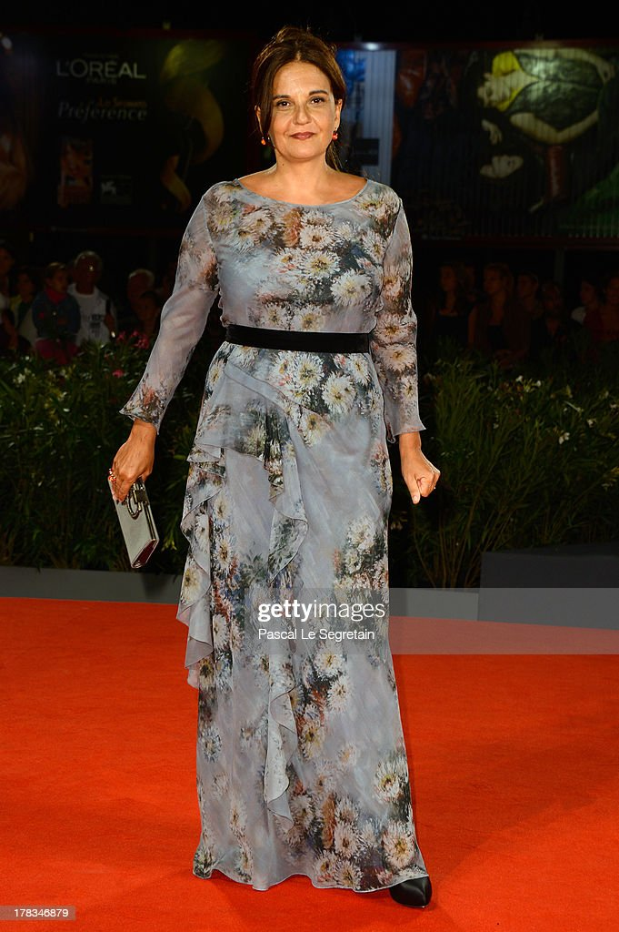 <a gi-track='captionPersonalityLinkClicked' href=/galleries/search?phrase=Emma+Dante&family=editorial&specificpeople=6571973 ng-click='$event.stopPropagation()'>Emma Dante</a> attends the 'Via Castellana Bandiera' premiere during the 70th Venice International Film Festival at the Palazzo del Cinema on August 29, 2013 in Venice, Italy.