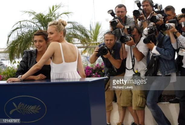 Emma de Caunes and Diane Kruger during 2007 Cannes Film Festival 'L'Age Des Tenebres' Photocall at Palais des Festivals in Cannes France
