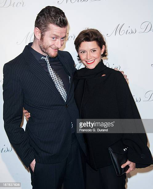 Emma de Caunes and husband Jamie Hewlett attend the 'Esprit Dior Miss Dior' Exhibition Opening at Grand Palais on November 12 2013 in Paris France