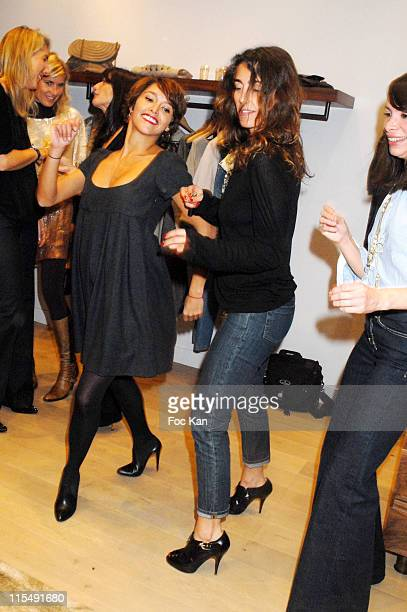 Emma de Caunes and Mademoiselle Agnes attend the Maje Paris St Sulpice Shop Opening Party on October 152007 In Paris France