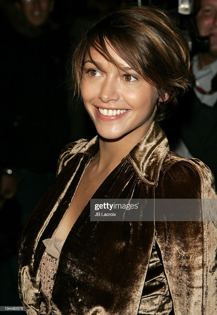 Emma de Caunes during Paris Fashion Week - Pret a Porter Spring/Summer 2006 - Christian Dior - Arrivals at Grand Palais in Paris, France.