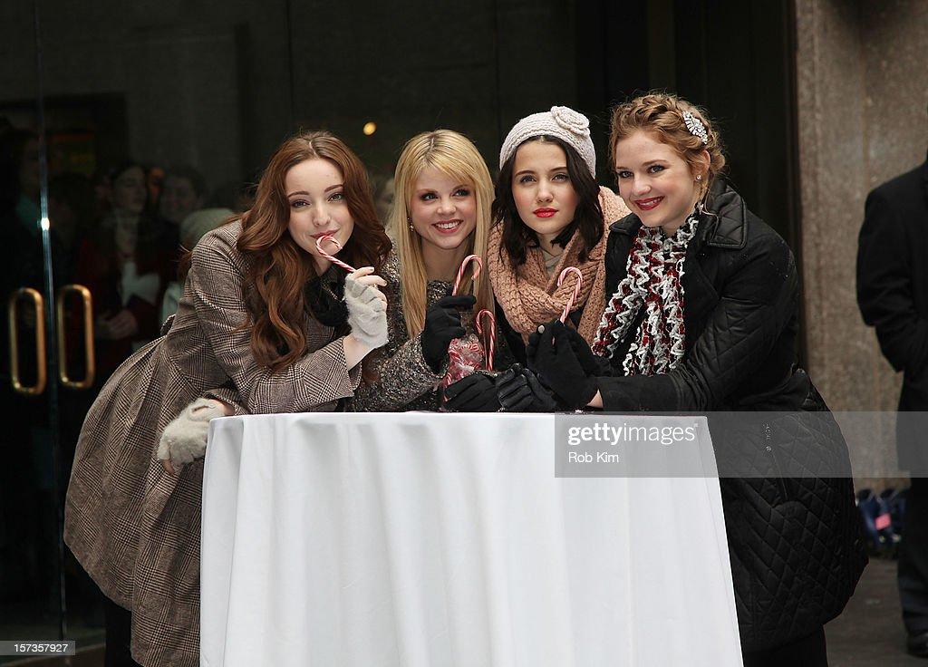 Emma Dumont, Bailey Buntain, Julia Goldani Telles and Kaitlyn Jenkins of Bunheads attend ABC Family's '25 Days Of Christmas' Winter Wonderland event at Rockefeller Center on December 2, 2012 in New York City.