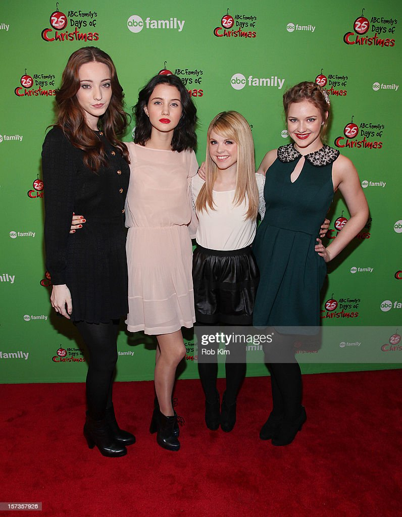Emma Dumont, Julia Goldani Telles, Bailey Buntain and Kaitlyn Jenkins of Bunheads attend ABC Family's '25 Days Of Christmas' Winter Wonderland event at Rockefeller Center on December 2, 2012 in New York City.