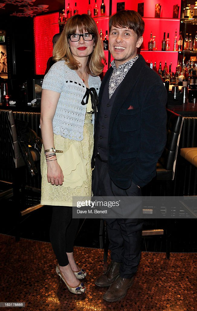 Emma Ferguson (L) and Mark Owen attend an after party following the 'Welcome To The Punch' UK Premiere at the Hippodrome Casino on March 5, 2013 in London, England.