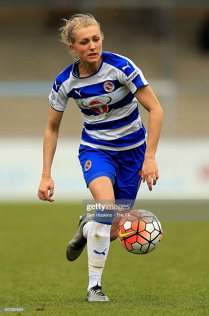 Emma Follis of Reading in action during the WSL 1 match between Reading FC Women and Sunderland AFC Ladies on May 2, 2016 in High Wycombe, England.