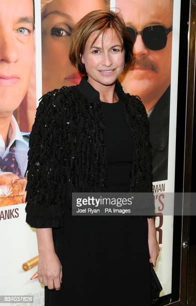 Emma Forbes arrives for the premiere of Charlie Wilson's War at the Empire cinema in Leicester Square central London