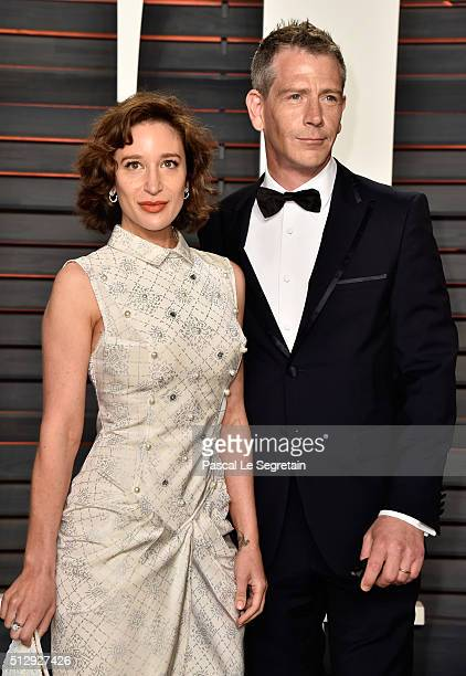 Emma Forrest and actor Ben Mendelsohn attend the 2016 Vanity Fair Oscar Party Hosted By Graydon Carter at the Wallis Annenberg Center for the...