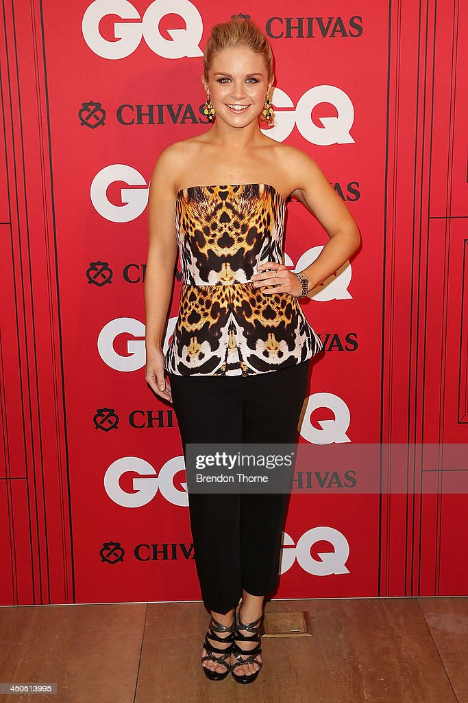Emma Freedman arrives at the GQ Men of the Year awards at the Ivy Ballroom on November 19, 2013 in Sydney, Australia.