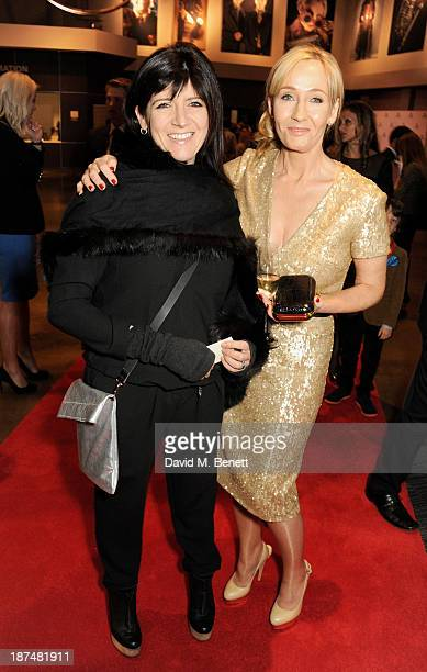 Emma Freud and JK Rowling attend the Lumos fundraising event hosted by JK Rowling at The Warner Bros Harry Potter Tour on November 9 2013 in London...