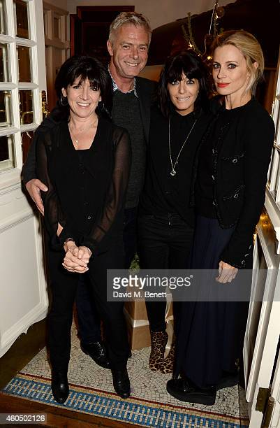 Emma Freud director Stephen Daldry Claudia Winkleman and Laura Bailey pose at the screening of 'Trash' hosted by Claudia Winkleman Emma Freud and...
