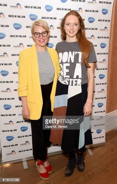 Emma Gannon and Lily Cole launch recycled plastic #swapforgood charity tshirts designed by Henry Holland in conjunction with BRITA to draw attention...