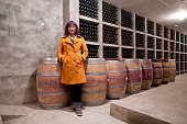 Emma Gao owner of Silver Heights poses for pictures in the wine cellar of her winery in Yinchuan Ningxia Hui Autonomous Region China on 19 December...