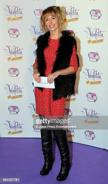 Emma Garcia attends the concert of Argentine singer Martina Stoessel 'Violetta' on Disney Channel on December 8 2013 in Madrid Spain