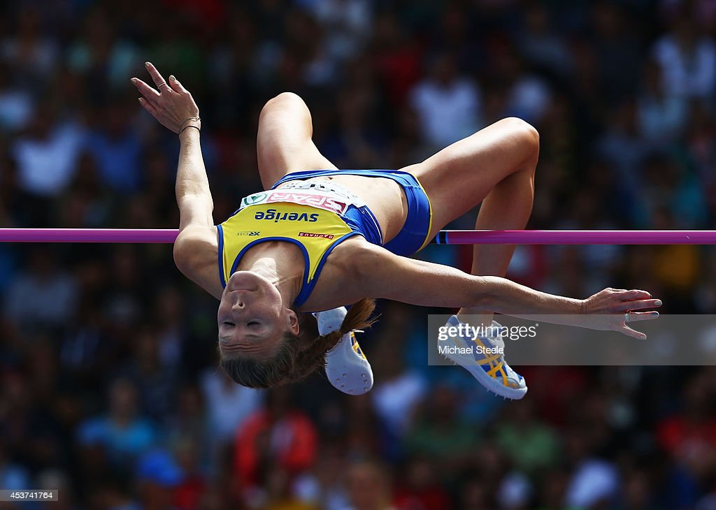 Emma Green of Sweden competes in the Women's High Jump final during day six of the 22nd European Athletics Championships at Stadium Letzigrund on August 17, 2014 in Zurich, Switzerland.