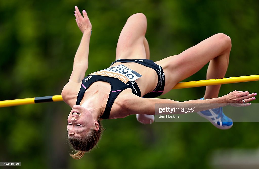 Emma Green of Sweden in action during the women's high jump at the Sainsbury's Anniversary Games at Horse Guards Parade on July 20, 2014 in London, England.