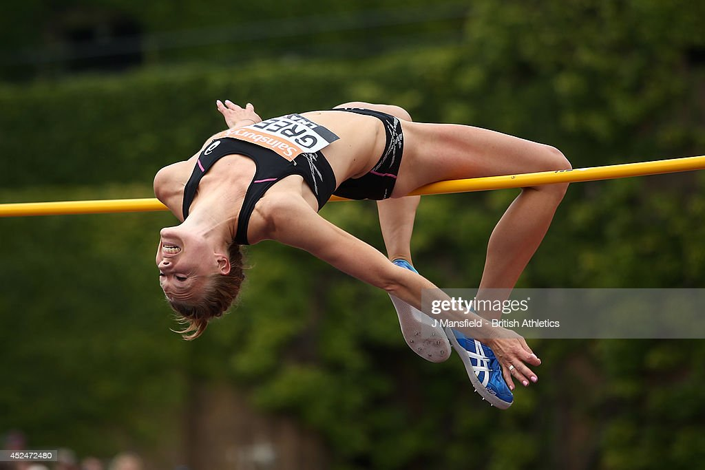 Emma Green of Sweden in action in the Womens high jump during the Sainsbury's Anniversary Games at Horse Guards Parade on July 20, 2014 in London, England.