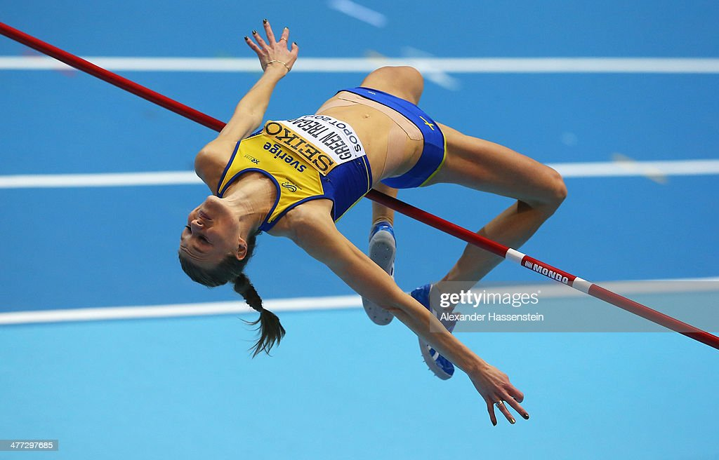 <a gi-track='captionPersonalityLinkClicked' href=/galleries/search?phrase=Emma+Green+Tregaro&family=editorial&specificpeople=7854658 ng-click='$event.stopPropagation()'>Emma Green Tregaro</a> of Sweden competes in the Women's High Jump Final during day two of the IAAF World Indoor Championships at Ergo Arena on March 8, 2014 in Sopot, Poland.