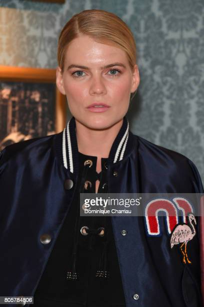 Emma Greenwell attends Miu Miu Cruise Collection show as part of Haute Couture Paris Fashion Week on July 2 2017 in Paris France