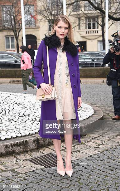 Emma Greenwell attends the Miu Miu show as part of the Paris Fashion Week Womenswear Fall Winter 2016/2017 on March 9 2016 in Paris France
