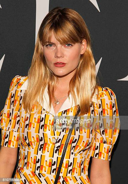 Emma Greenwell attends the Miu Miu Tales 11 screening event during New York Fashion Week at EN Japanese Brasserie on February 16 2016 in New York City
