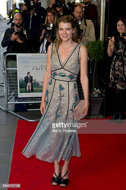 Emma Greenwell attends the UK premiere 'Love And Friendship' at The Curzon Mayfair on May 24 2016 in London England