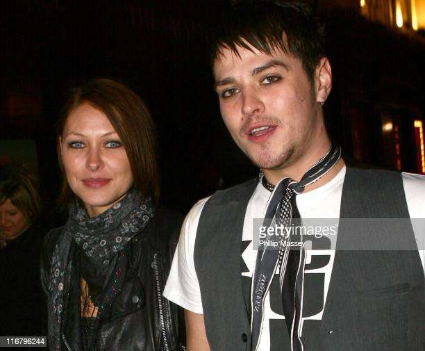Emma Griffiths and Matt Willis during Cheerios Childline Concert After Party January 28 2007 at Lillie's Bordello in Dublin Ireland