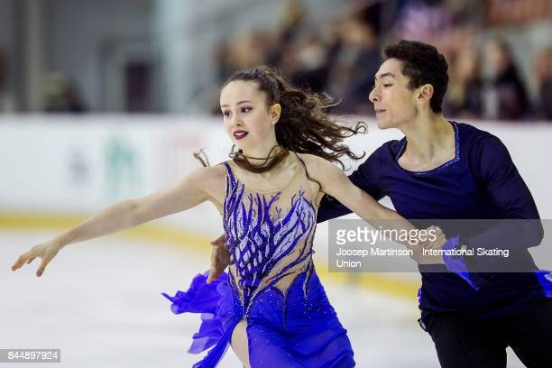Emma Gunter and Caleb Wein of the United States compete in the Junior Ice Dance Free Dance during day 3 of the Riga Cup ISU Junior Grand Prix of...