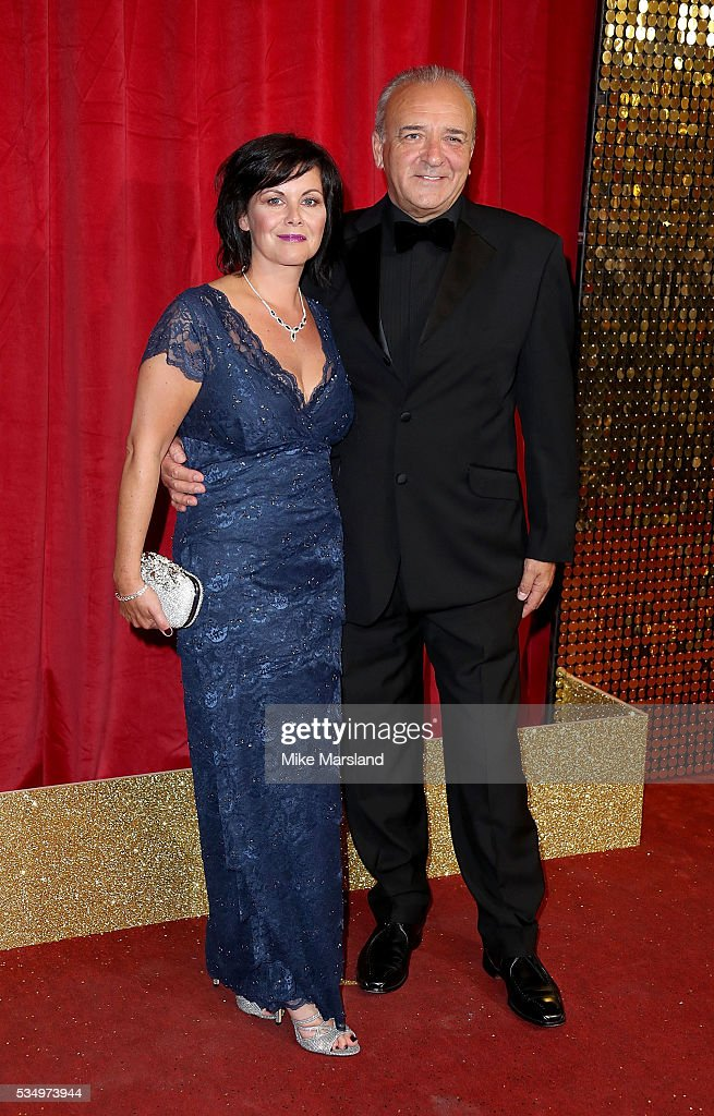 Emma Harbour and John Bowe attend the British Soap Awards 2016 at Hackney Empire on May 28, 2016 in London, England.