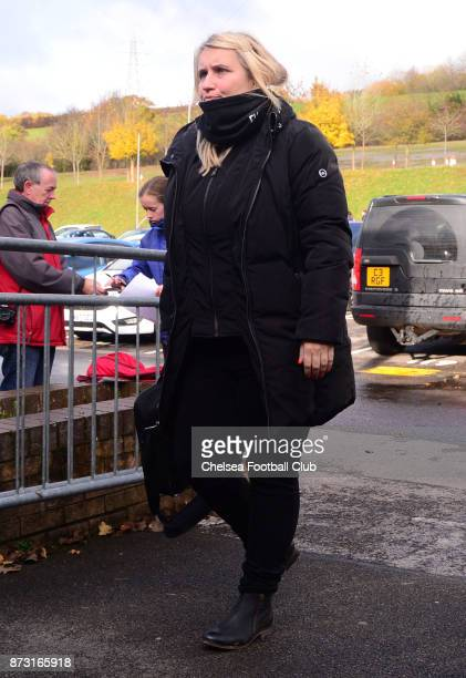 Emma Hayes manager of Chelsea arrives before a WSL match between Reading Women and Chelsea Ladies at Adams Park on October 12 2017 in Wycombe England
