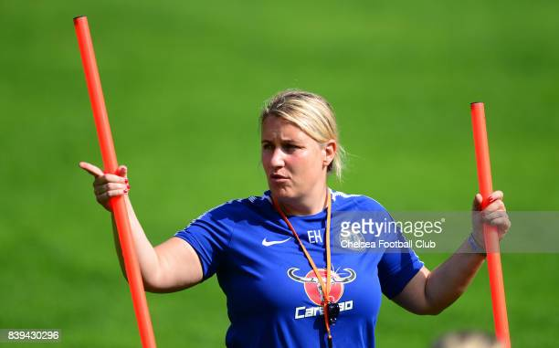 Emma Hayes of Chelsea during training on August 26 2017 in Schladming Austria