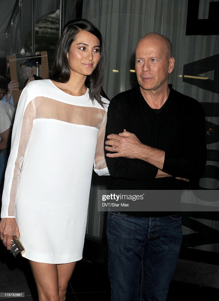 Emma Heming and Bruce Willis are sighted on July 16, 2013 in New York City.
