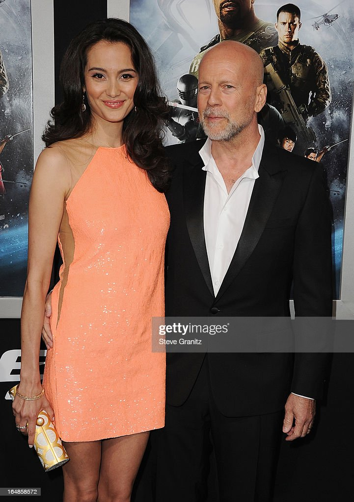 Emma Heming Willis and actor Bruce Willis attend the 'G.I. Joe: Retaliation' Los Angeles Premiere at TCL Chinese Theatre on March 28, 2013 in Hollywood, California.