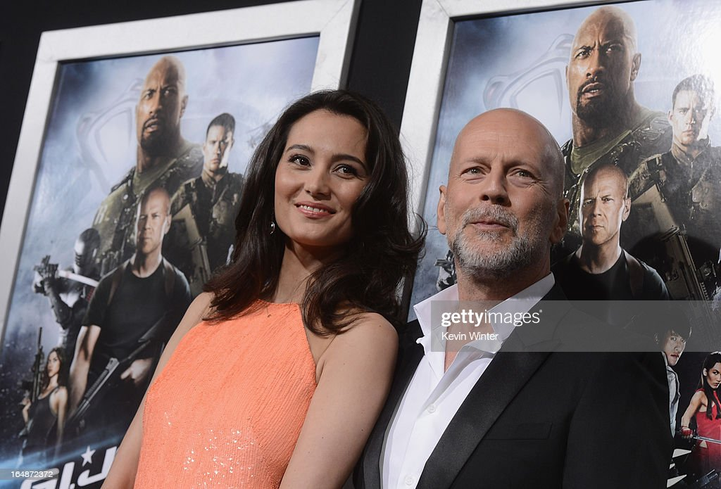Emma Heming Willis and actor <a gi-track='captionPersonalityLinkClicked' href=/galleries/search?phrase=Bruce+Willis&family=editorial&specificpeople=202185 ng-click='$event.stopPropagation()'>Bruce Willis</a> attend the premiere of Paramount Pictures' 'G.I. Joe:Retaliation' at TCL Chinese Theatre on March 28, 2013 in Hollywood, California.