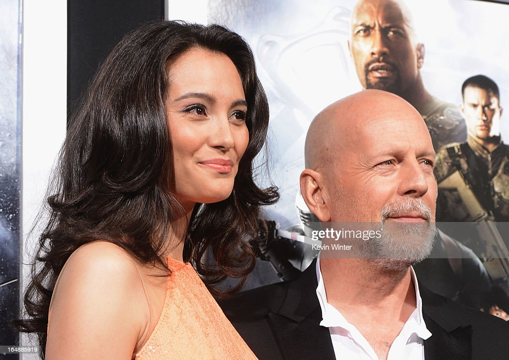 Emma Heming Willis and actor Bruce Willis attends the premiere of Paramount Pictures' 'G.I. Joe:Retaliation' at TCL Chinese Theatre on March 28, 2013 in Hollywood, California.