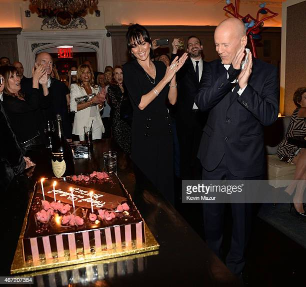 Emma Heming Willis and Bruce Willis celebrate Bruce Willis' 60th birthday at Harlow on March 21 2015 in New York City
