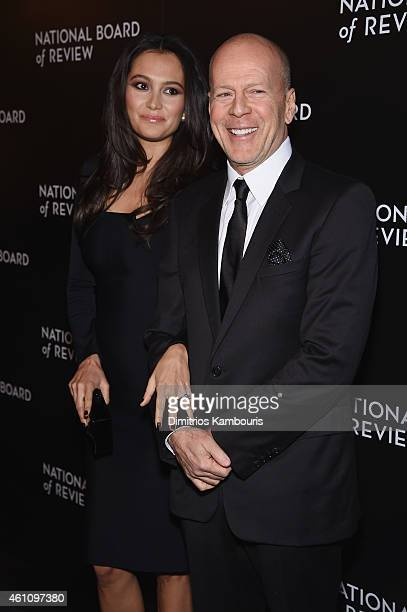 Emma HemingWillis and Bruce Willis attend the 2014 National Board of Review Gala at Cipriani 42nd Street on January 6 2015 in New York City