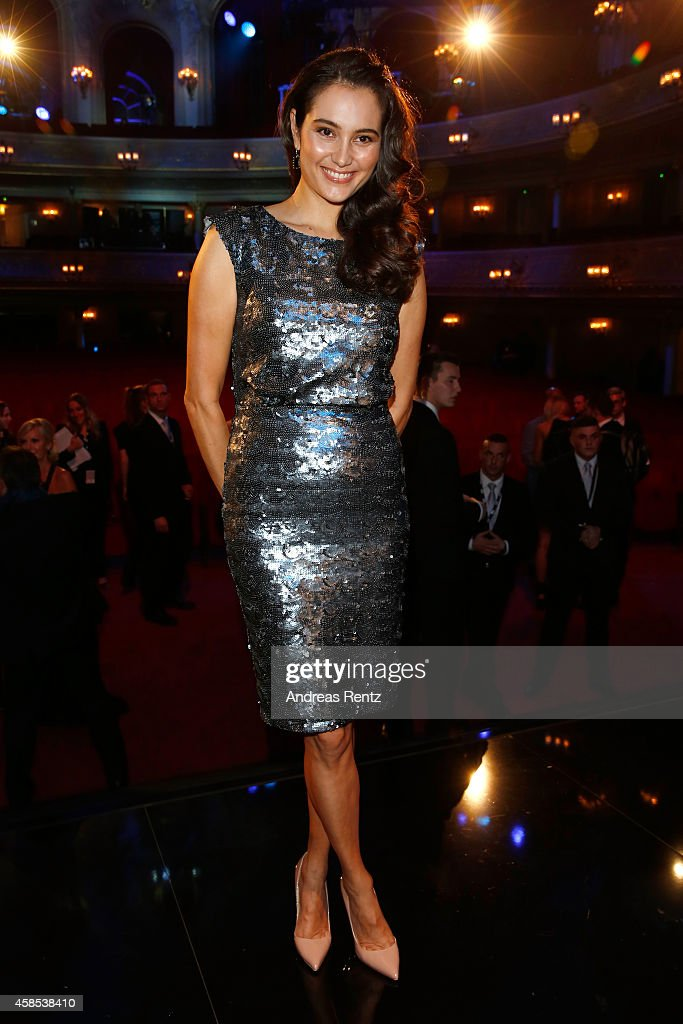 Emma Heming-Willis is seen on stage at the GQ Men Of The Year Award 2014 at Komische Oper on November 6, 2014 in Berlin, Germany.