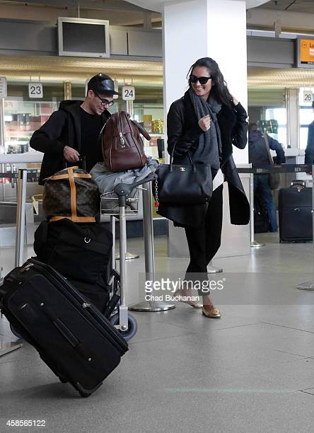 Emma HemingWillis sighted at Tegel Airport on November 7 2014 in Berlin Germany