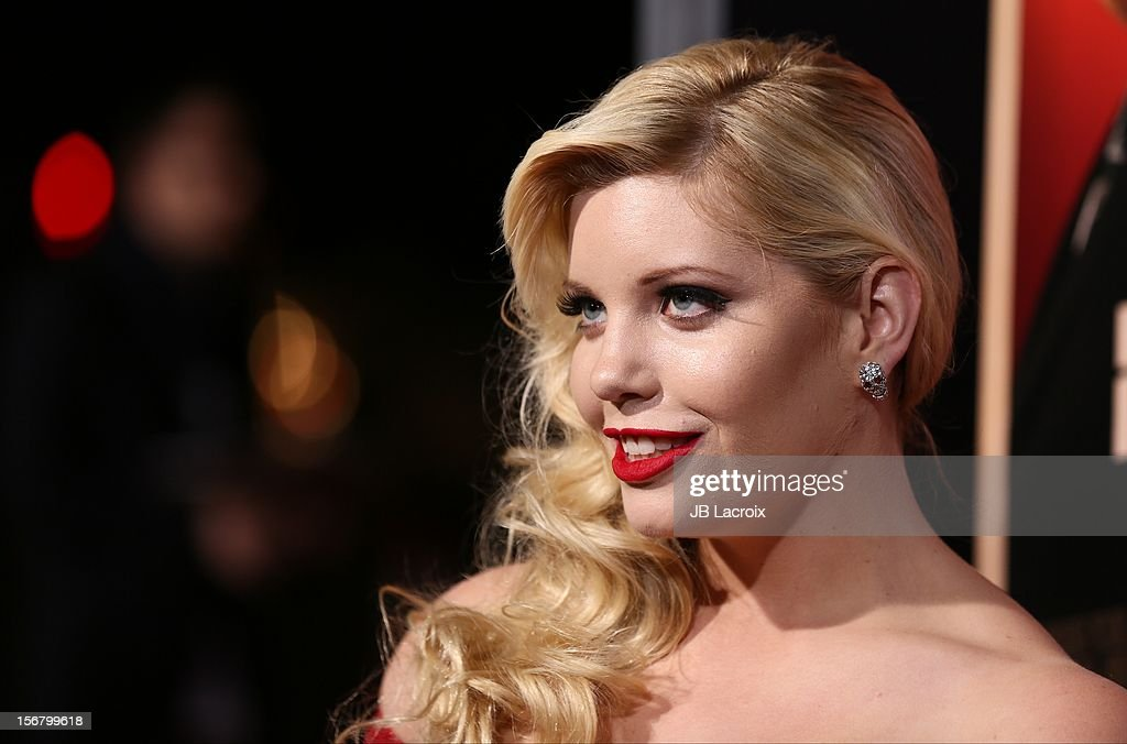 Emma Jacobs attends the 'Hitchcock' - Los Angeles Premiere at the Academy of Motion Picture Arts and Sciences on November 20, 2012 in Beverly Hills, California.