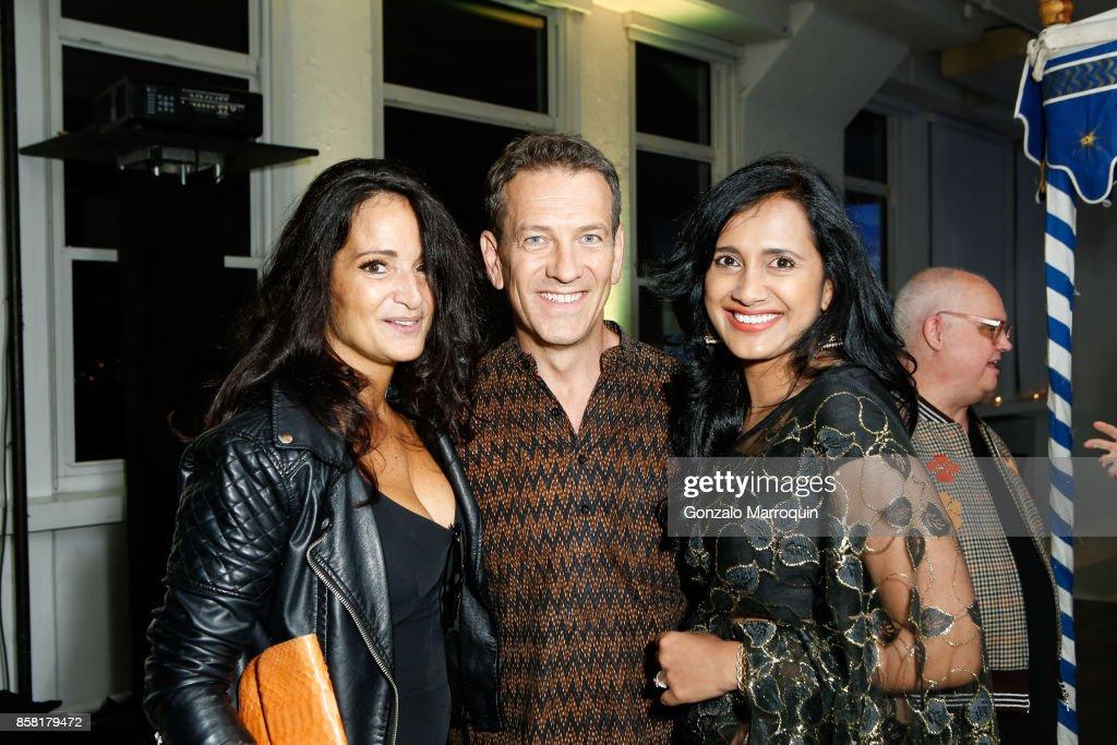 Emma Jnowdon Jones, Michael Daube and Avantika Chakravarthi during the CITTA Fest 2017 Fall Benefit at Tribeca Skyline Studios on October 5, 2017 in New York City.