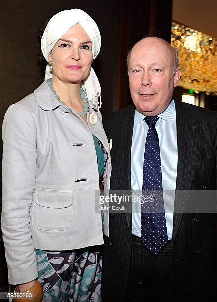 Emma Joy Kitchener and Julian Fellowes attend a Golden Globe lunch hosted by BritWeek chairman Bob Peirce honoring Julian Fellowes Gareth Neame and...