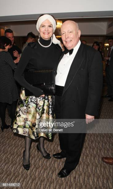 Emma Joy Kitchener and Lord Julian Fellowes attend the launch of Patti Boulaye's autobiography 'The Faith Of A Child' at The Athenaeum on March 10...