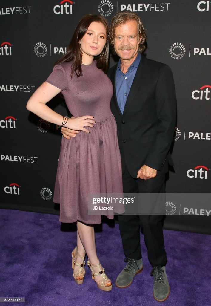 Emma Kenney and William H. Macy attend The Paley Center for Media's 11th Annual PaleyFest fall TV previews Los Angeles for Showtime's Shameless at The Paley Center for Media on September 6, 2017 in Beverly Hills, California.