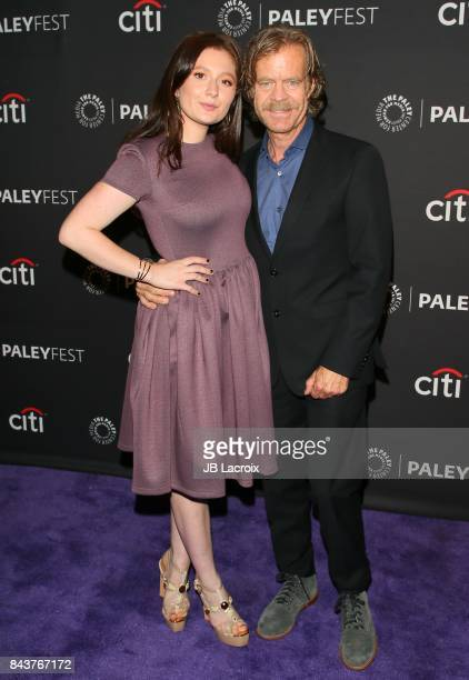 Emma Kenney and William H Macy attend The Paley Center for Media's 11th Annual PaleyFest fall TV previews Los Angeles for Showtime's Shameless at The...