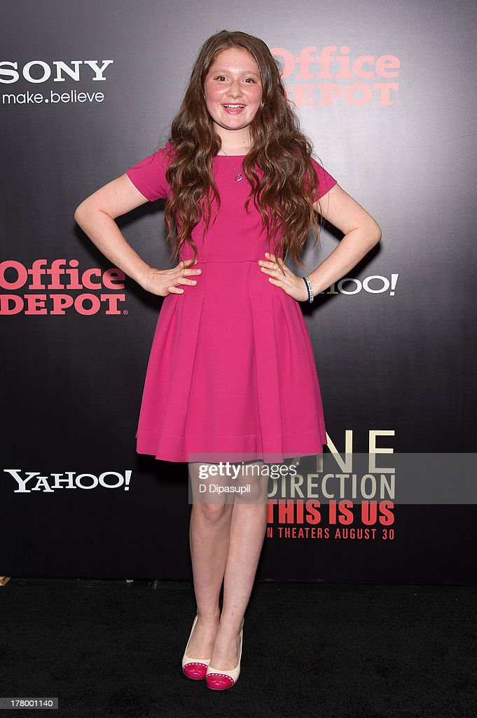 Emma Kenney attends the New York premiere of 'One Direction: This Is Us' at the Ziegfeld Theater on August 26, 2013 in New York City.