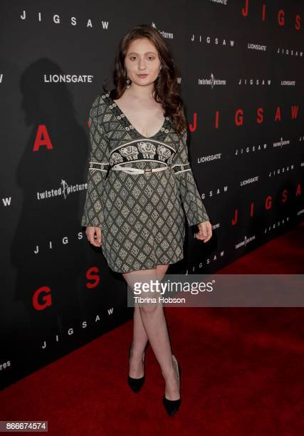 Emma Kenney attends the premiere of Lionsgate's 'Jigsaw' at ArcLight Hollywood on October 25 2017 in Hollywood California