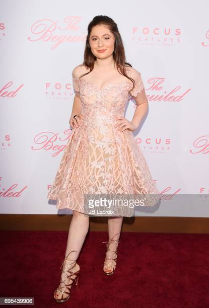 Emma Kenney attends the premiere of 'The Beguiled' on June 12 2017 in Los Angeles California