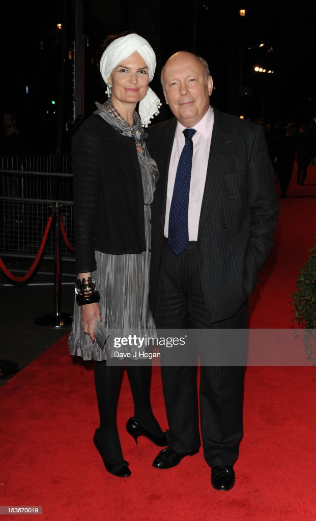 Emma Kitchener and <a gi-track='captionPersonalityLinkClicked' href=/galleries/search?phrase=Julian+Fellowes&family=editorial&specificpeople=224703 ng-click='$event.stopPropagation()'>Julian Fellowes</a> attend BFI Gala Dinner on October 8, 2013 in London, England.