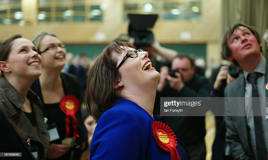 Emma Lewell-Buck of the Labour Party celebrates after winning the South Shields byelection, retaining Labour's seat on May 2, 2013 in South Shields, England. The byelection was triggered after the former Foreign Secretary Davud Milibandannounced recently that he was resigning from the House of Commons in order to leave Britain and head up the International Rescue Committee humanitarian organisation.