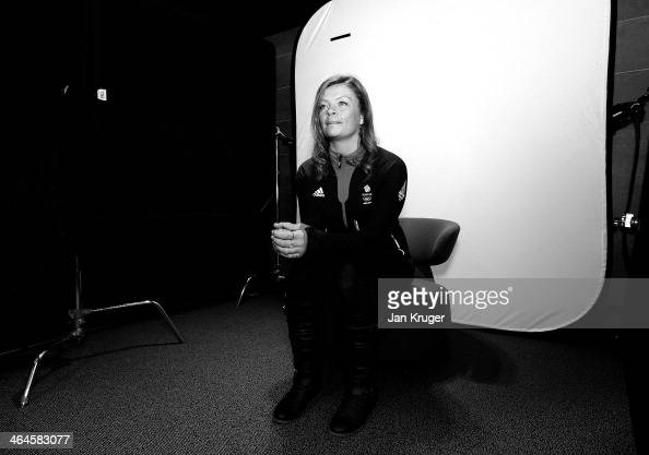 Emma Lonsdale of Great Britain poses during the Team GB Kitting Out ahead of Sochi Winter Olympics on January 23 2014 in Stockport England